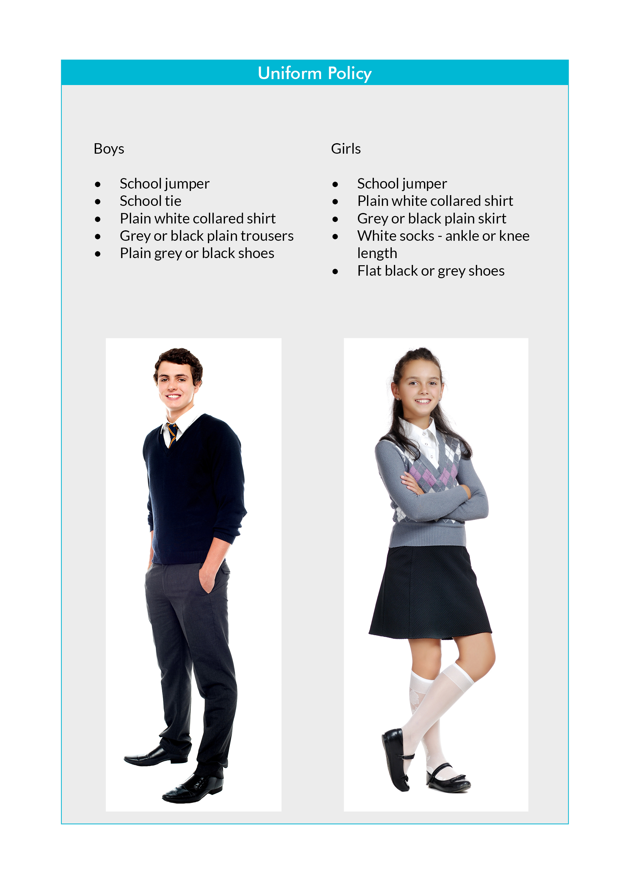 Policies - Uniform Template Grey Background