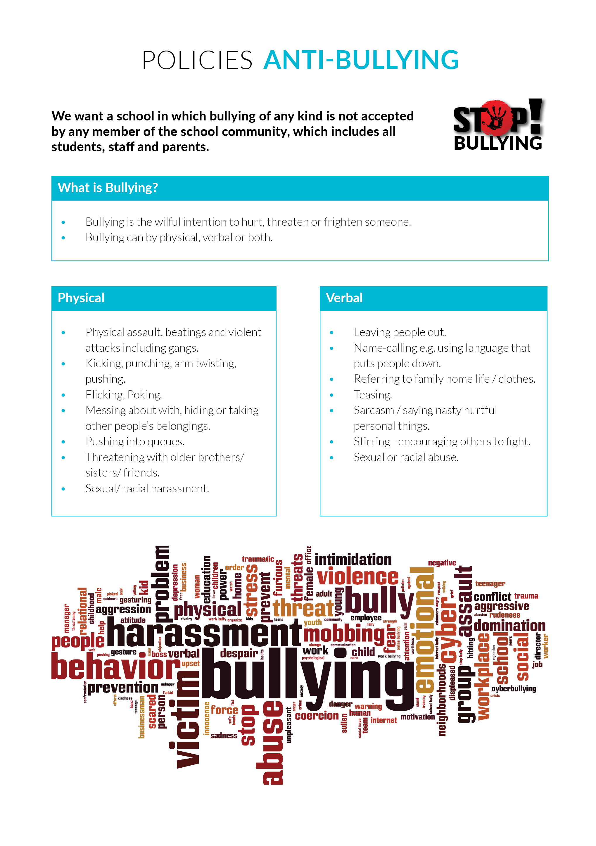 Policies - Anti Bullying