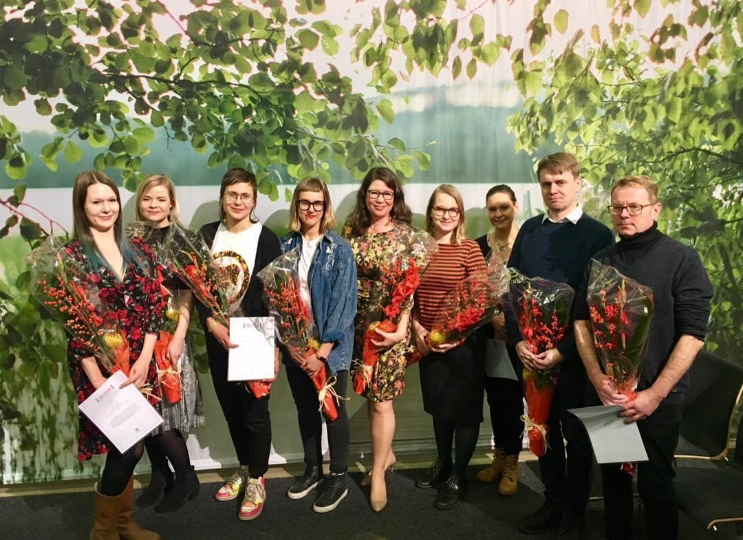 Ihan totta! -kilpailun voittajat Helsingin Kirjamessuilla 2017
