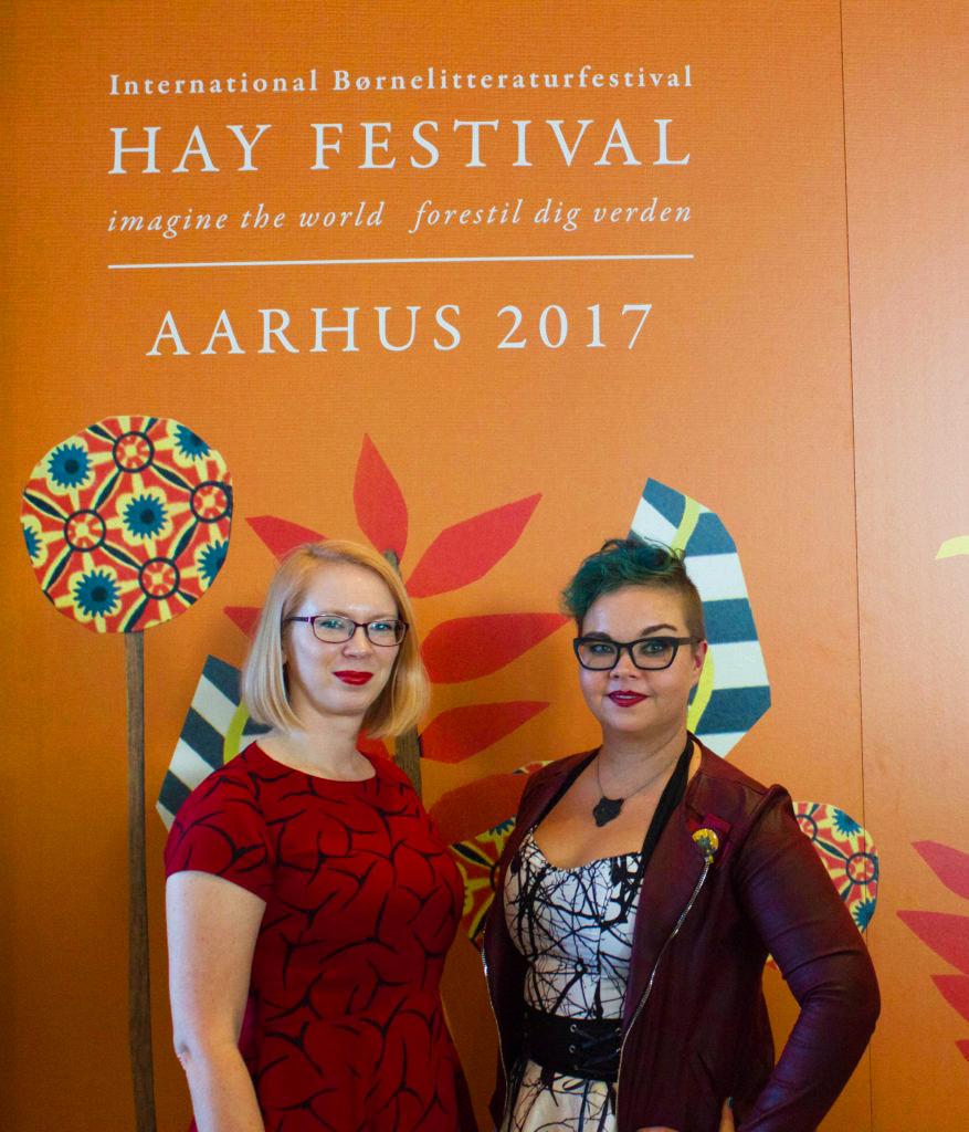 Salla Simukka ja Maria Turtschaninoff Aarhus39-tapahtumassa