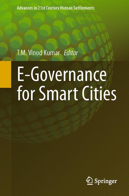 Cover of 'E-Governance for Smart Cities'