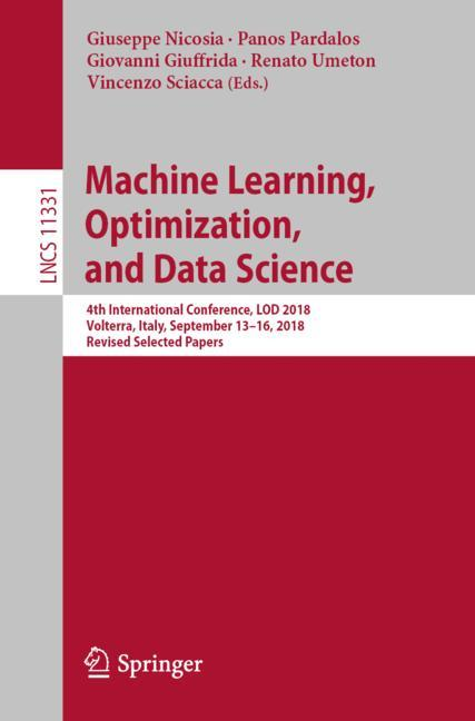 Cover of 'Machine Learning, Optimization, and Data Science'