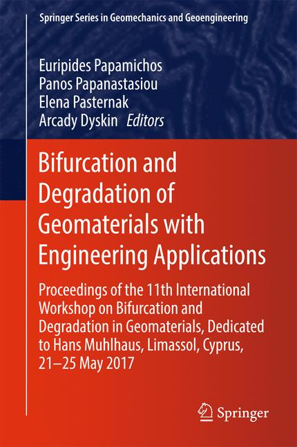 Cover of 'Bifurcation and Degradation of Geomaterials with Engineering Applications'
