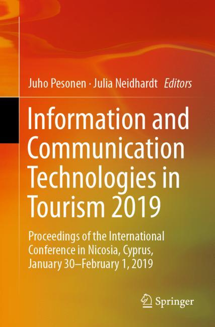 Cover of 'Information and Communication Technologies in Tourism 2019'