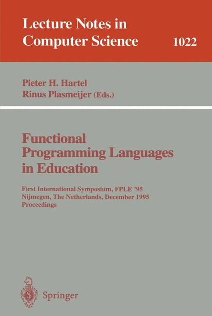 Cover of 'Funtional Programming Languages in Education'