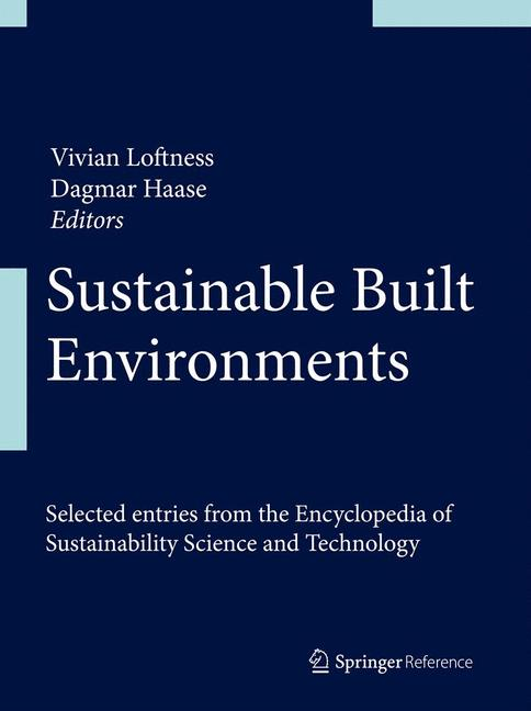 Cover of 'Sustainable Built Environments'