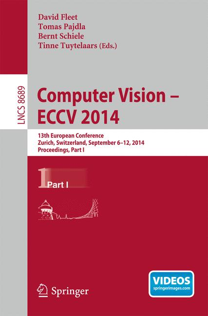 Cover of 'Computer Vision -- ECCV 2014'