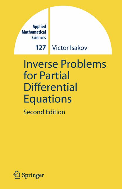 Cover of 'Inverse problems for partial differential equations'