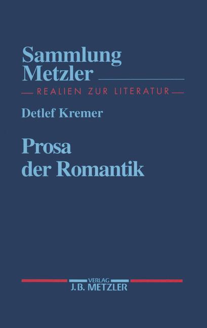 Cover of 'Prosa der Romantik'