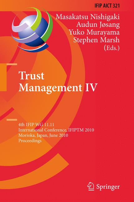 Cover of 'Trust Management IV'