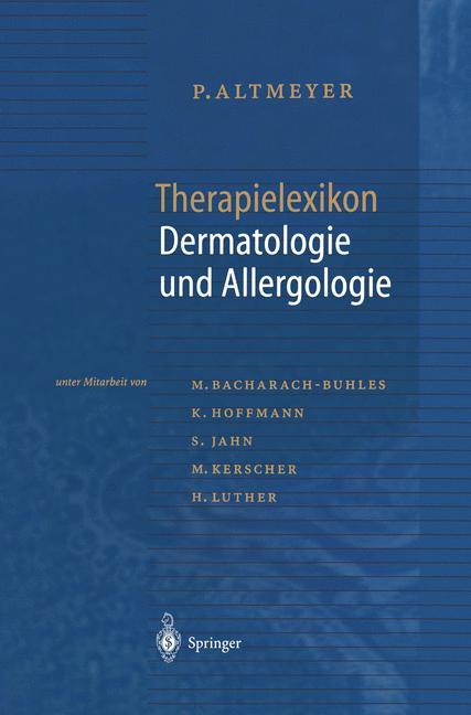 Cover of 'Therapielexikon Dermatologie und Allergologie'