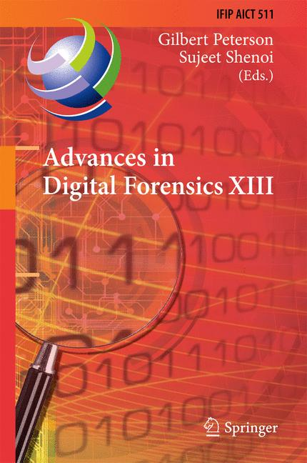 Cover of 'Advances in Digital Forensics XIII'