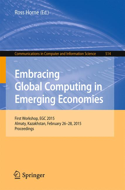 Cover of 'Embracing Global Computing in Emerging Economies'