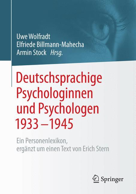 Cover of 'Deutschsprachige Psychologinnen und Psychologen 1933–1945'