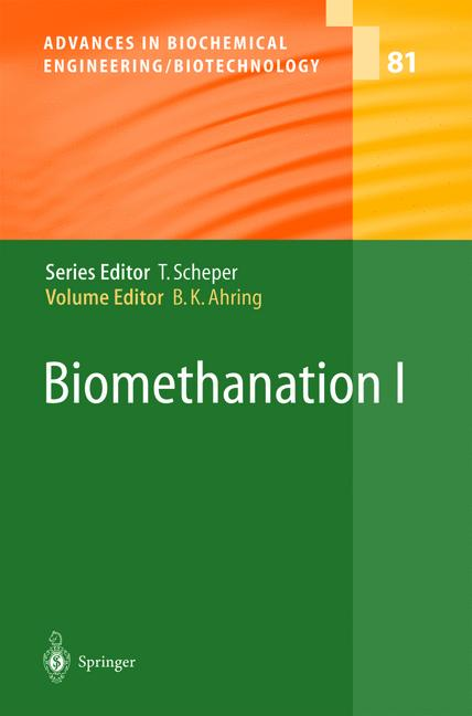 Cover of 'Biomethanation I'