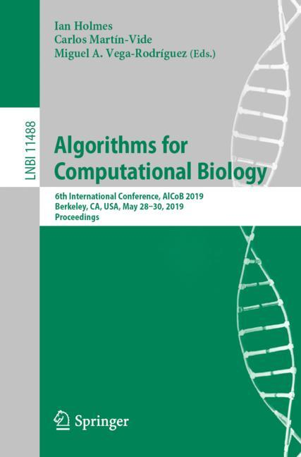 Cover of 'Algorithms for Computational Biology'