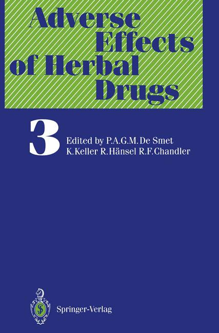 Cover of 'Adverse Effects of Herbal Drugs'