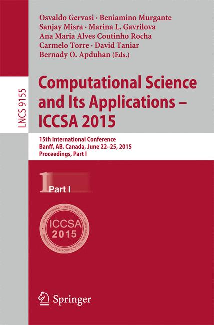 Cover of 'Computational Science and Its Applications -- ICCSA 2015'