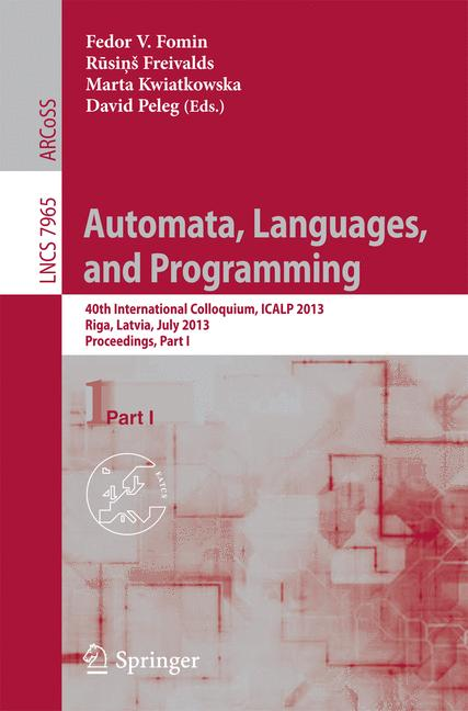Cover of 'Automata, Languages, and Programming'