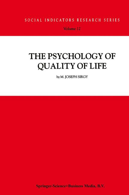 Cover of 'The Psychology of Quality of Life'