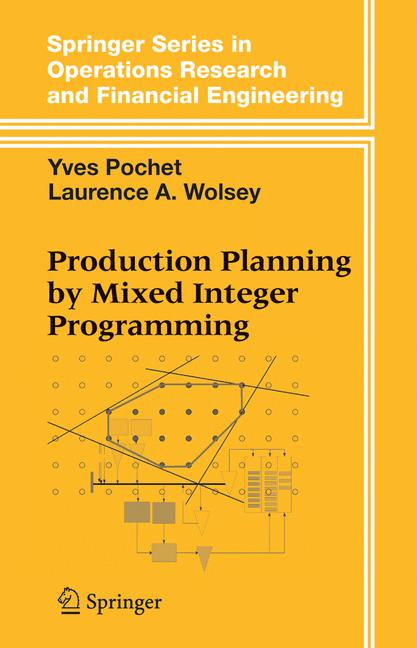 Cover of 'Production Planning by Mixed Integer Programming'