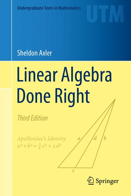 Cover of 'Linear Algebra Done Right'