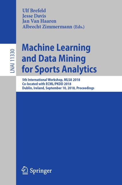 Cover of 'Machine Learning and Data Mining for Sports Analytics'
