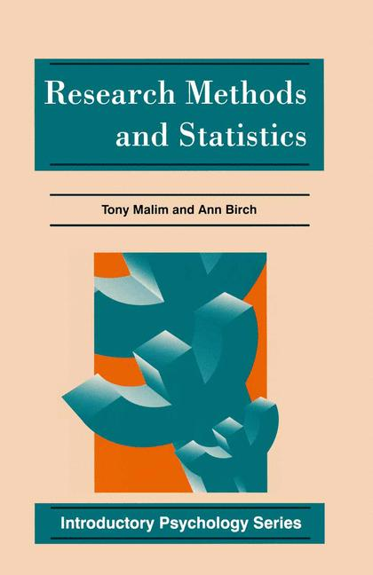 Cover of 'Research methods and statistics'