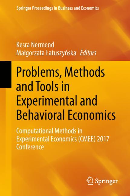 Cover of 'Problems, Methods and Tools in Experimental and Behavioral Economics'