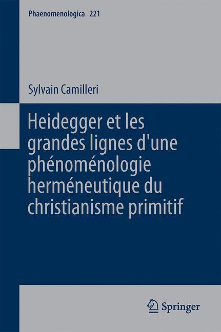 Cover of 'Heidegger et les grandes lignes d'une phénoménologie herméneutique du christianisme primitif'