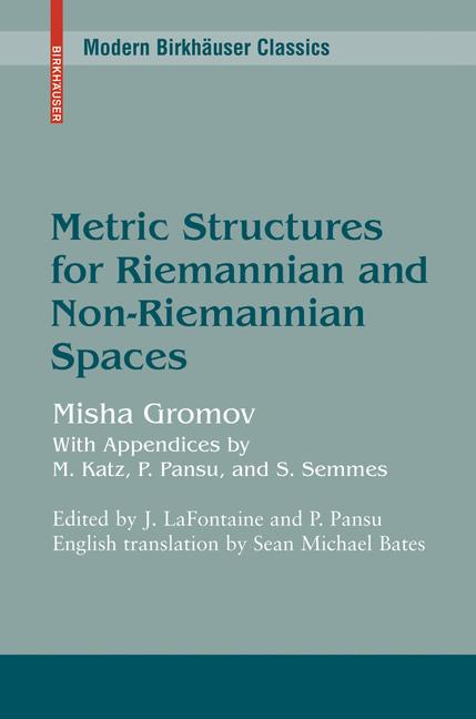 Cover of 'Metric Structures for Riemannian and Non-Riemannian Spaces'