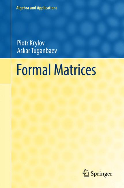 Cover of 'Formal Matrices'