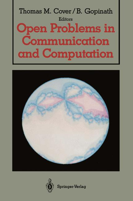 Cover of 'Open Problems in Communication and Computation'