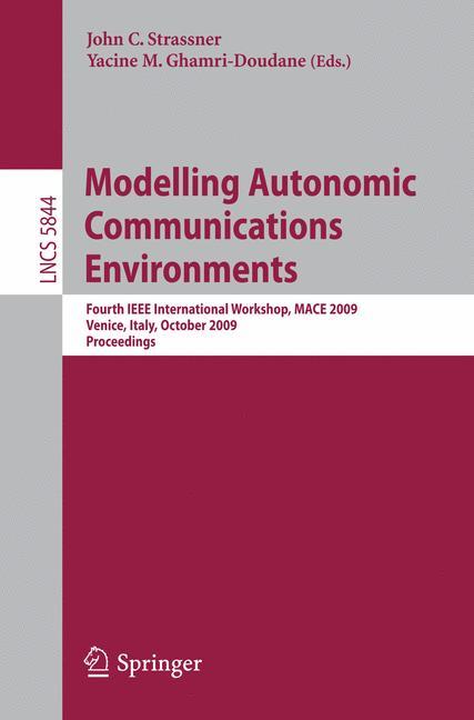 Cover of 'Modelling Autonomic Communications Environments'