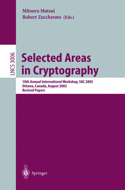 Cover of 'Selected Areas in Cryptography'