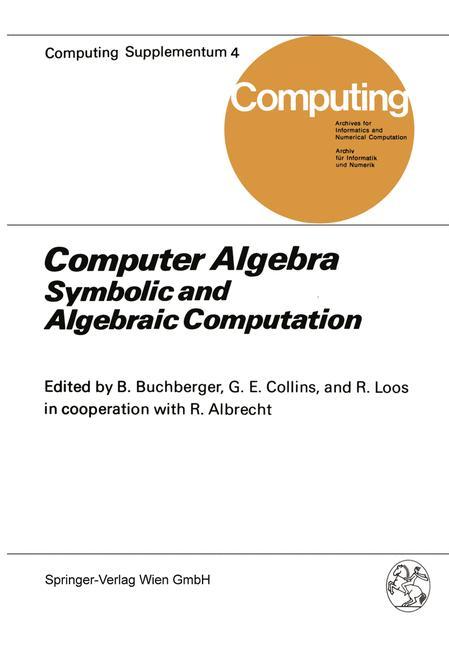 Cover of 'Computer Algebra'