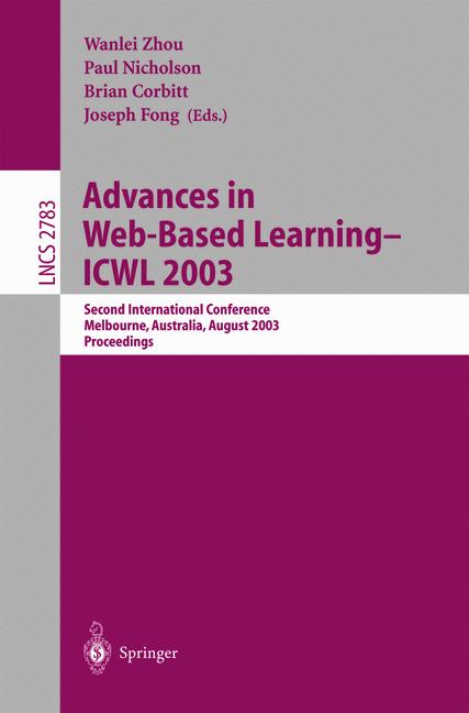 Cover of 'Advances in Web-Based Learning - ICWL 2003'