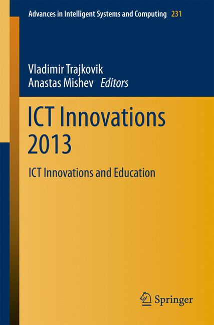 Cover of 'ICT Innovations 2013'