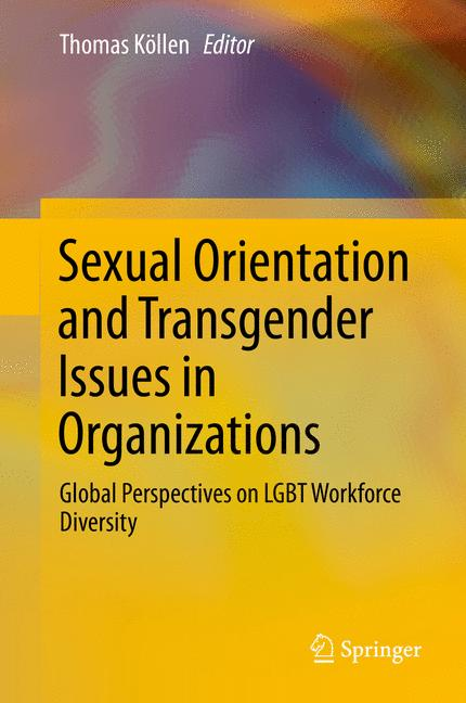 Cover of 'Sexual Orientation and Transgender Issues in Organizations'