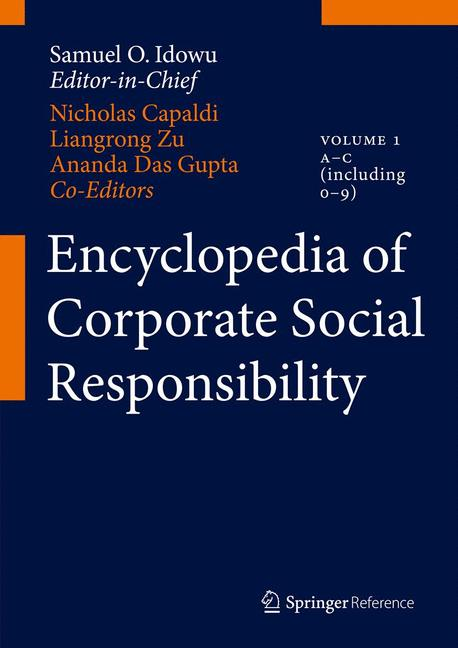 Cover of 'Encyclopedia of Corporate Social Responsibility'