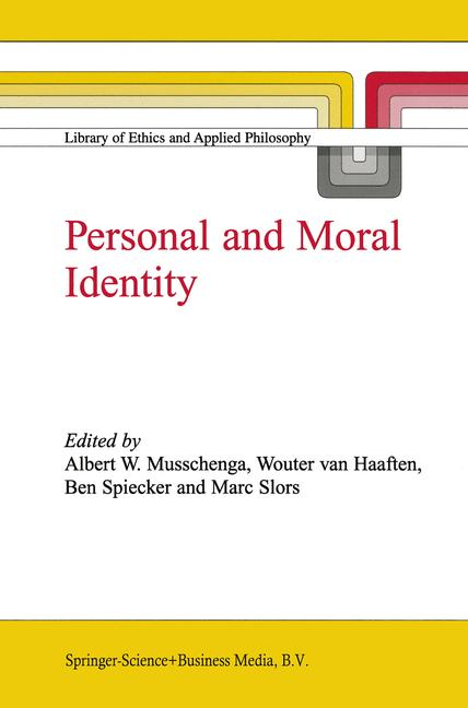 Cover of 'Personal and Moral Identity'