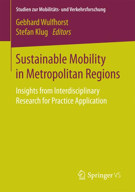 Cover of 'Sustainable Mobility in Metropolitan Regions'