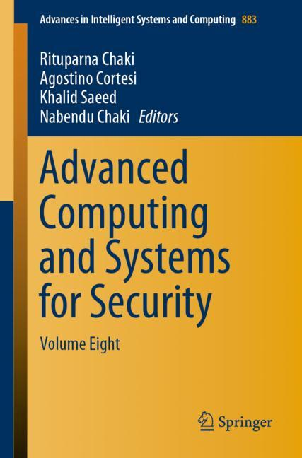 Cover of 'Advanced Computing and Systems for Security'