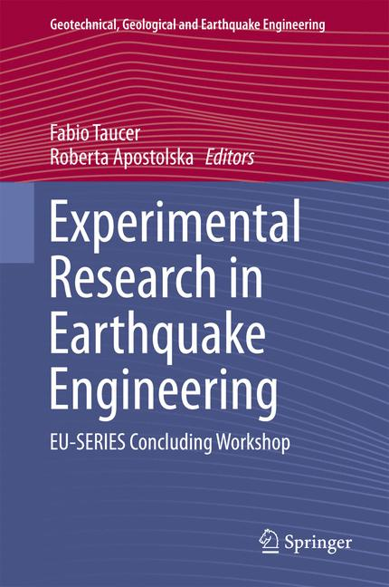 Cover of 'Experimental Research in Earthquake Engineering'