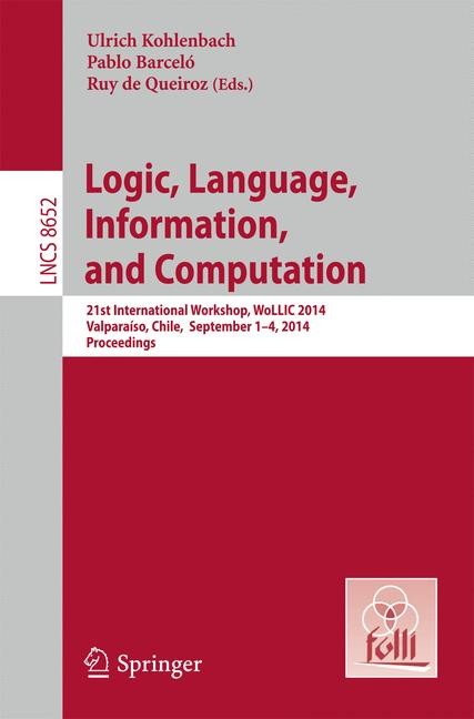 Cover of 'Logic, Language, Information, and Computation'
