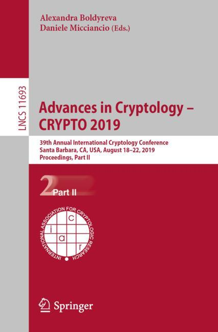 Cover of 'Advances in Cryptology – CRYPTO 2019'