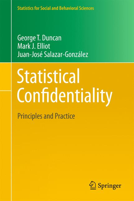Cover of 'Statistical Confidentiality'
