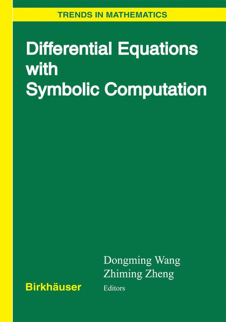 Cover of 'Differential Equations with Symbolic Computation'