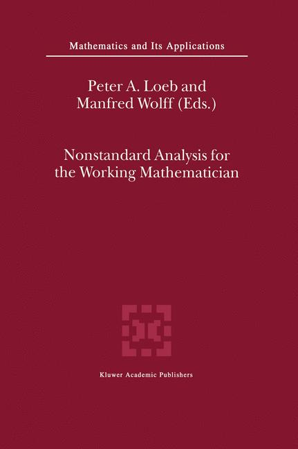 Cover of 'Nonstandard Analysis for the Working Mathematician'