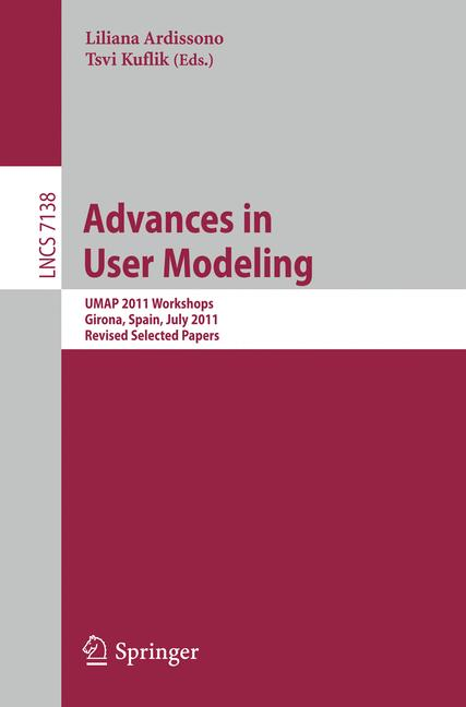Cover of 'Advances in User Modeling'
